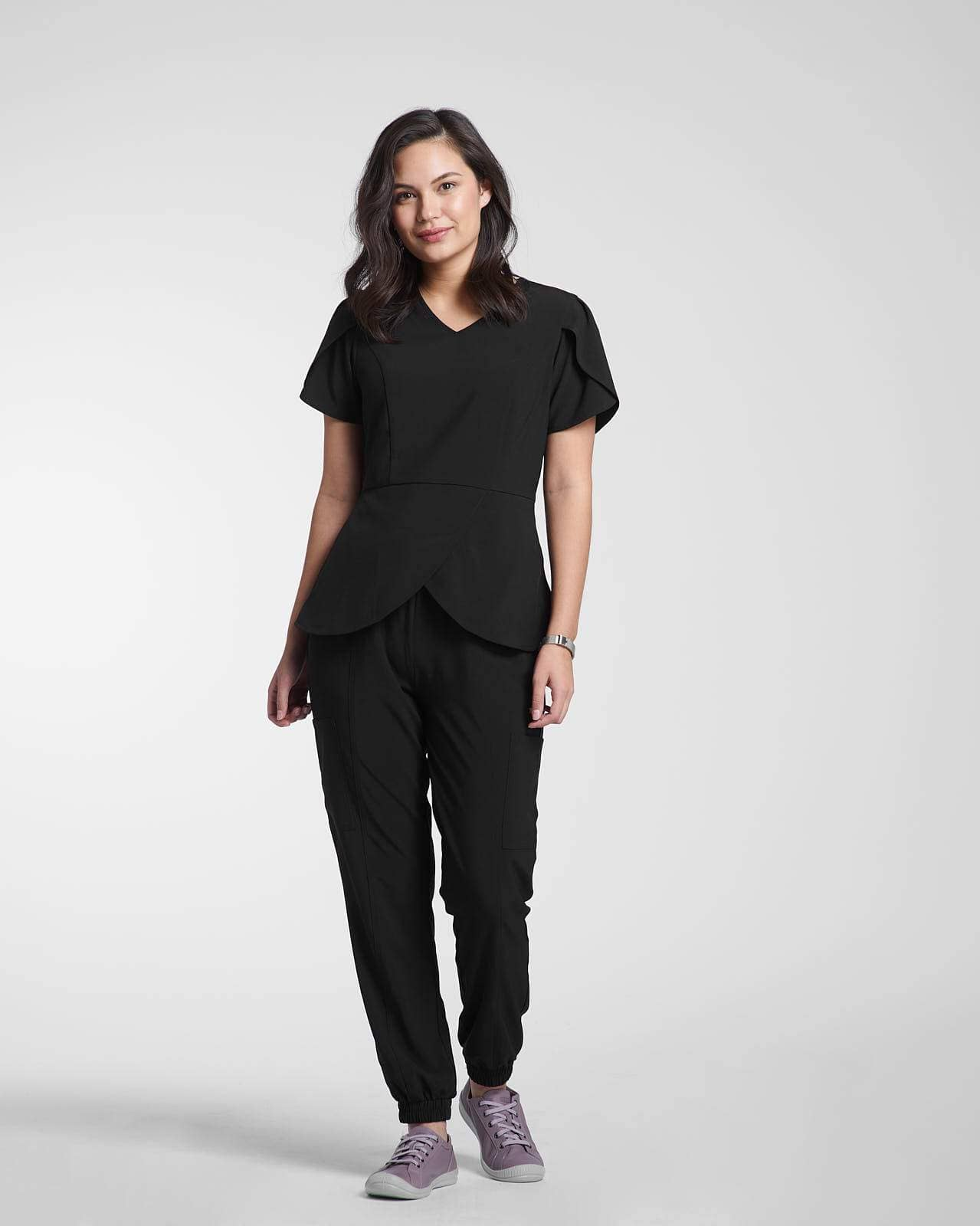 Black Scrubs for women by Happily Scrubbed