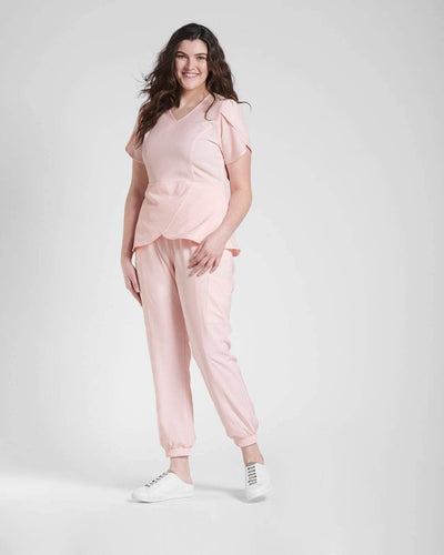 Pink Scrub Tops for Women
