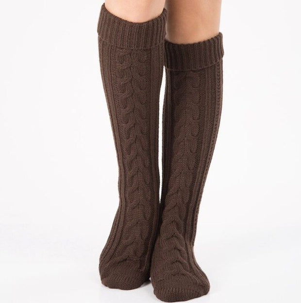 1 Pair Ladies Fashion Cuffs Toppers Knit Leg Boot Knee High  Leg Warmers Sock Women's Knitted  Boot Socks