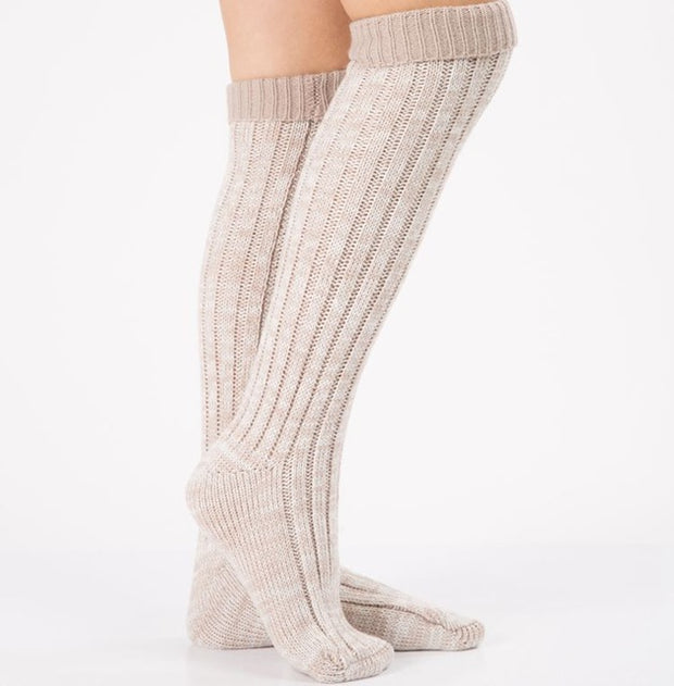 1 Pair Women's Knitted Boot Socks Boot Cuffs Toppers Knit Leg Boot Knee High Long Leg Warmers Sock