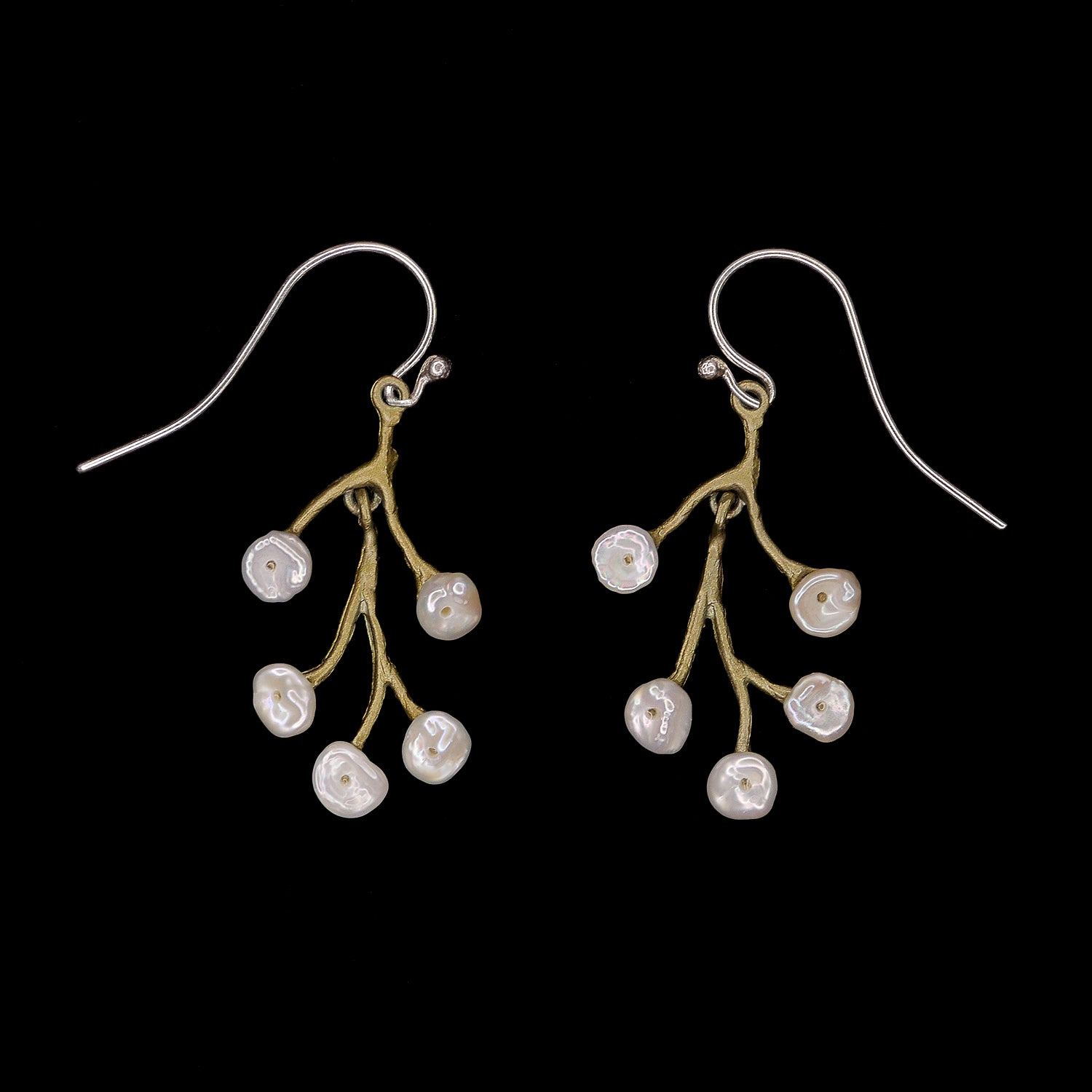 Baby's Breath Earrings - Spray Wire