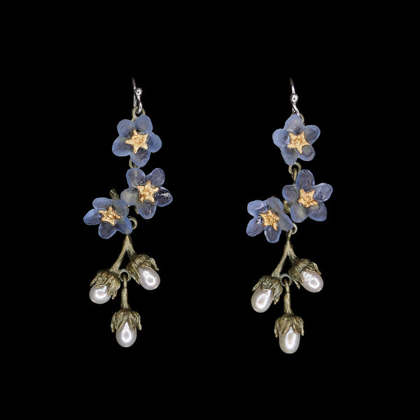 Forget Me Not Earrings - Shower Wire