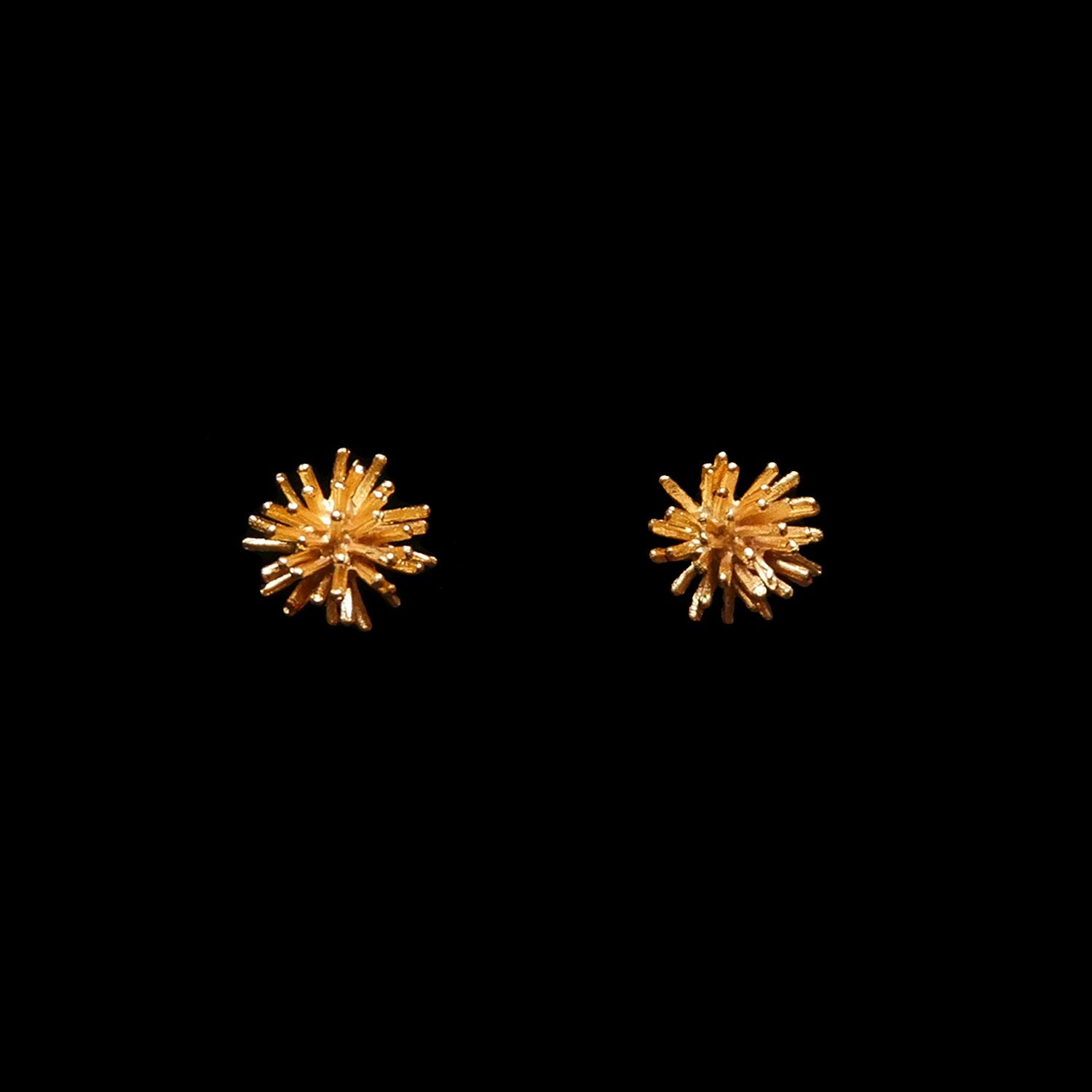 Gone To Seed Earrings - Large Stud Gold