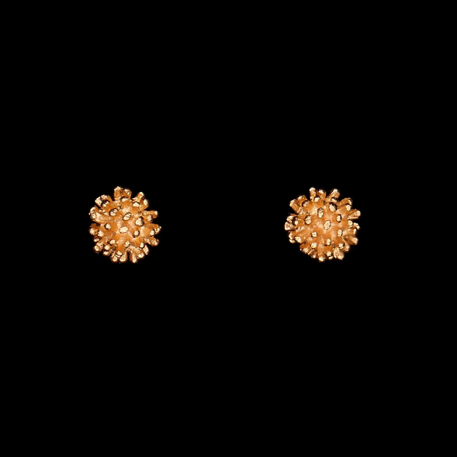 Gone To Seed Earrings - Small Stud Gold