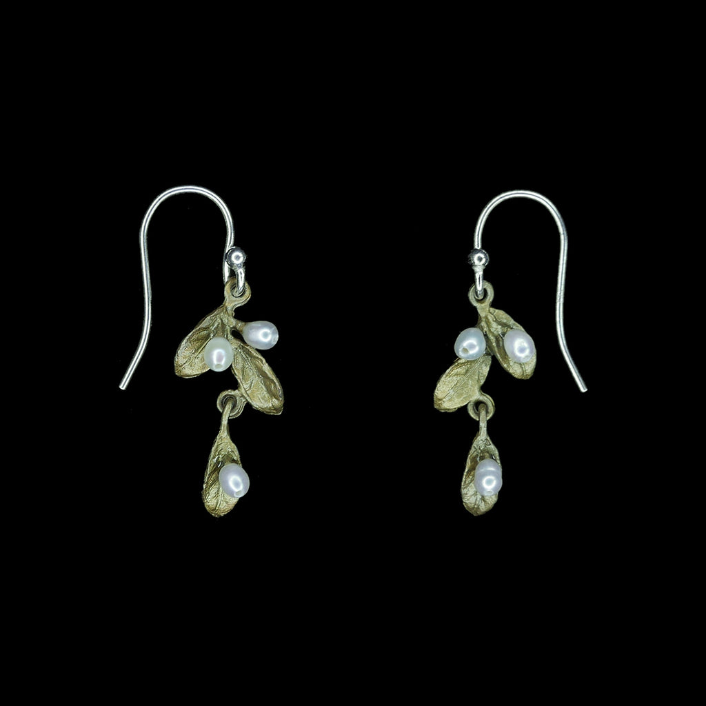 Petite Leaf Earrings - Drop Dangle Wire
