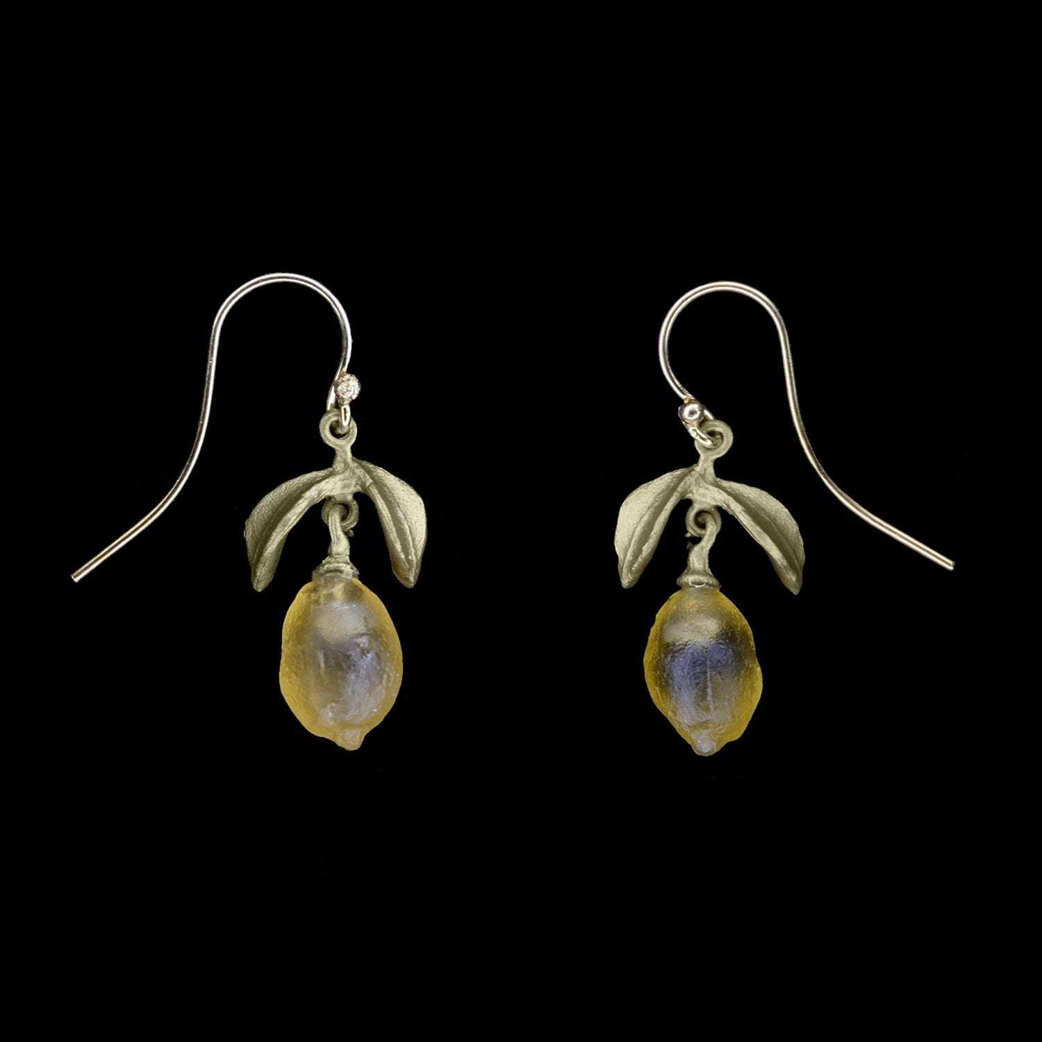 Lemon Drop Earrings - Dainty Wire