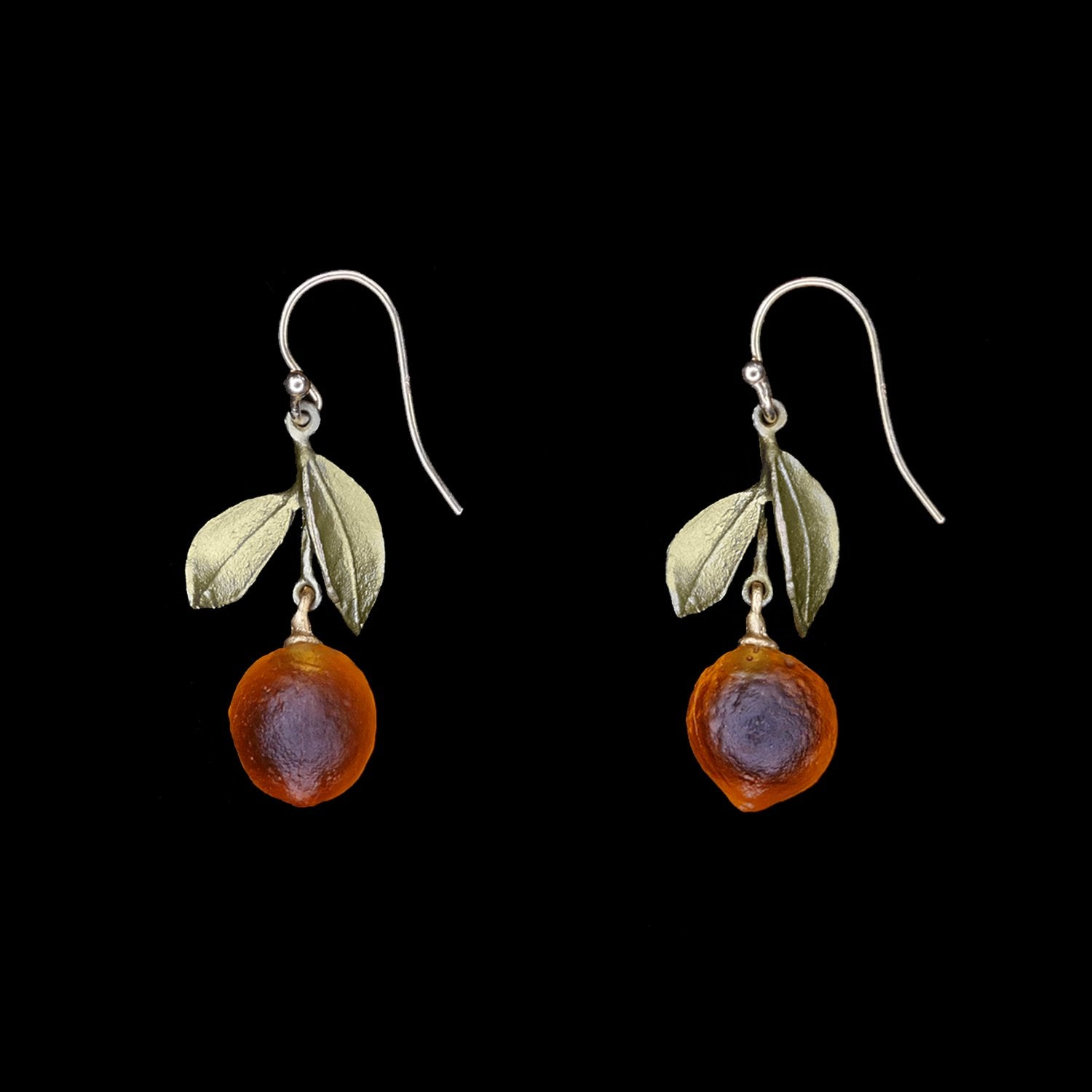 Orange Earrings - Drop Wire