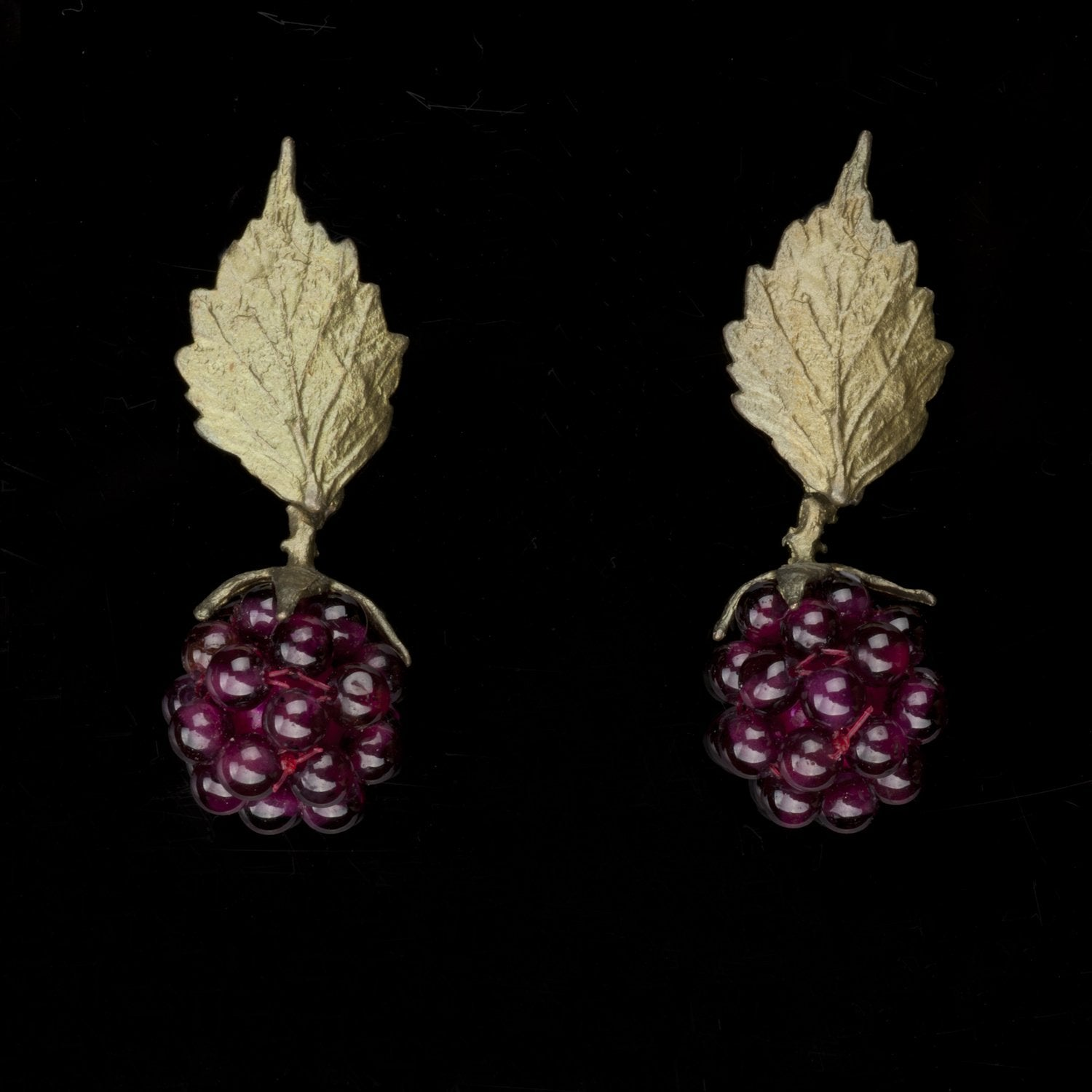 Raspberry Earrings - Post Leaf