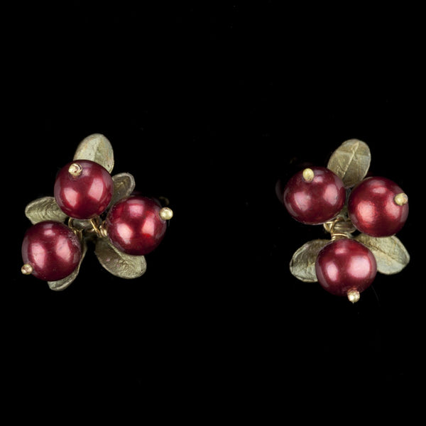 Cranberry Earrings - 3 Berry Post