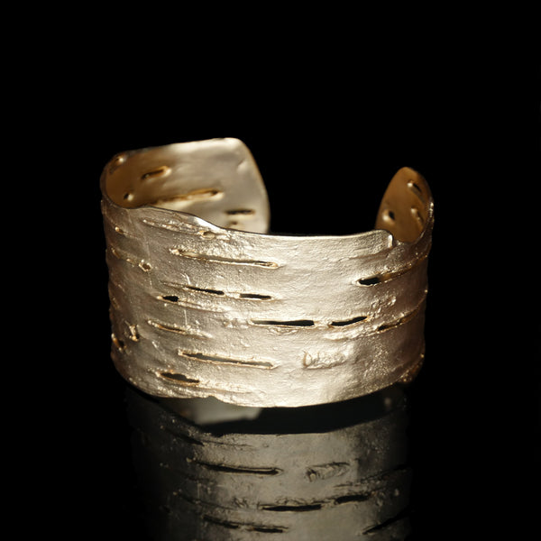 Birch Bark Cuff - Gold