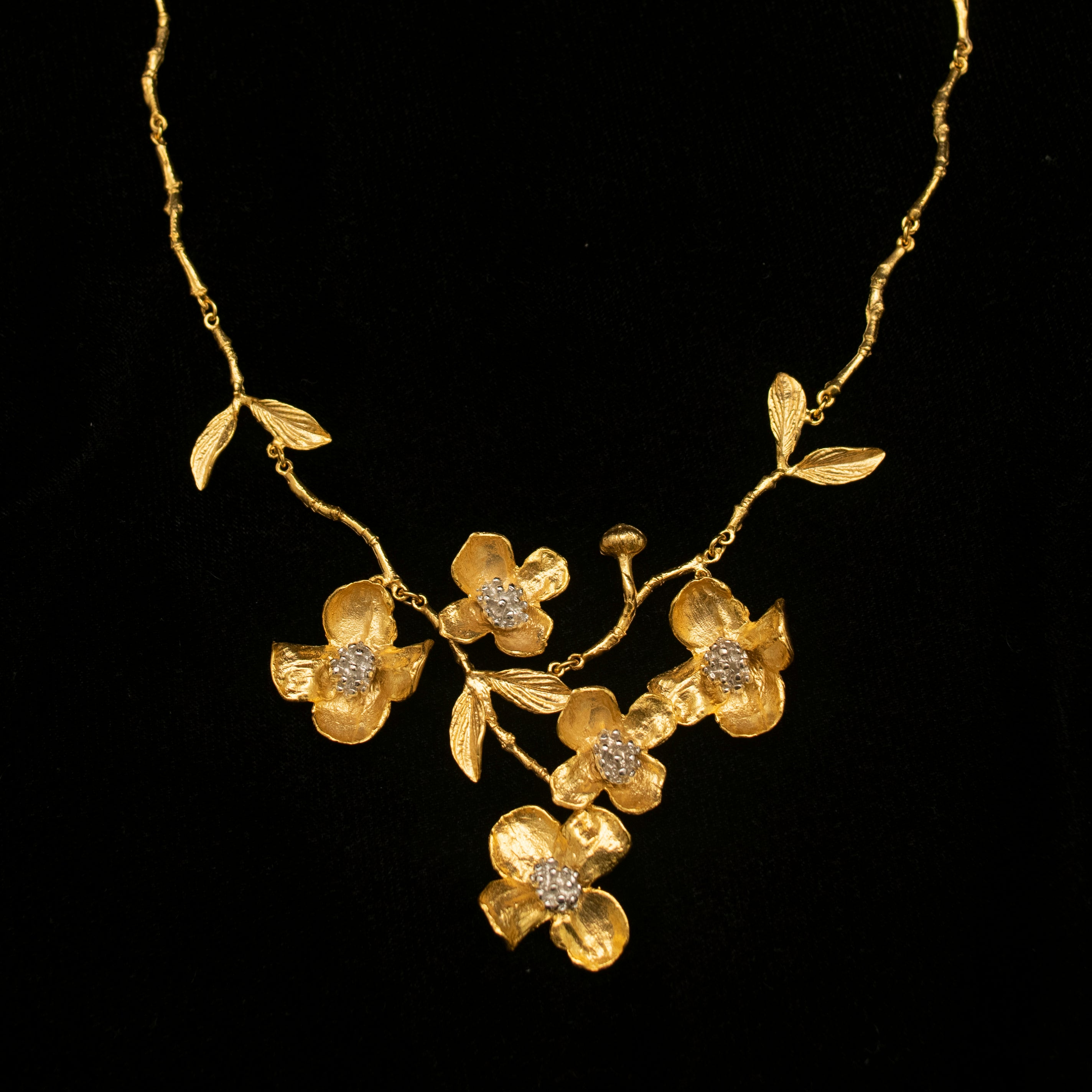 Fine Dogwood Statement Necklace