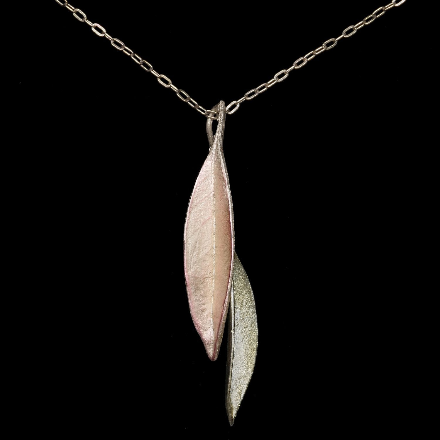 Ash Leaf Pendant - Two Tone