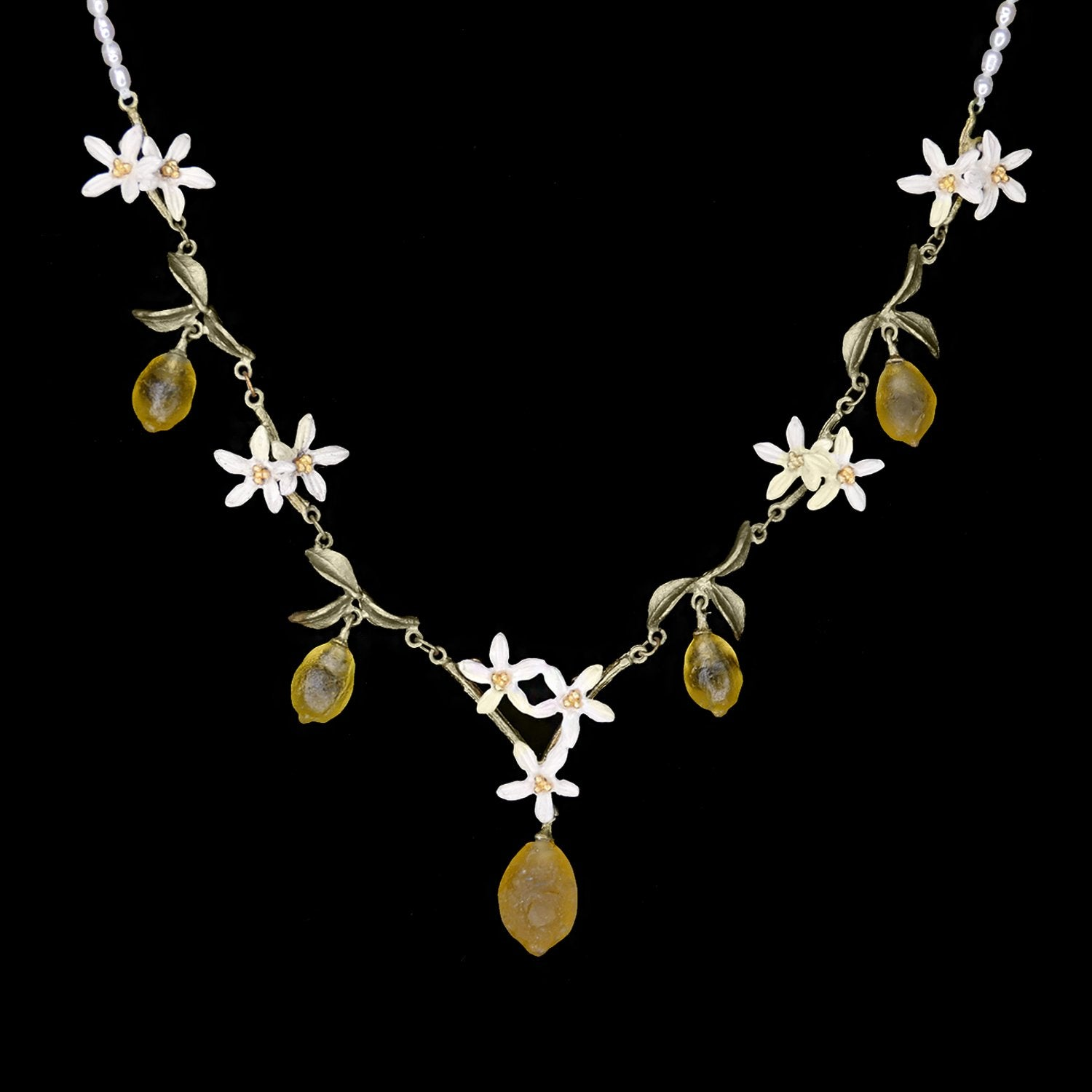 Lemon Drop Necklace - Pearls