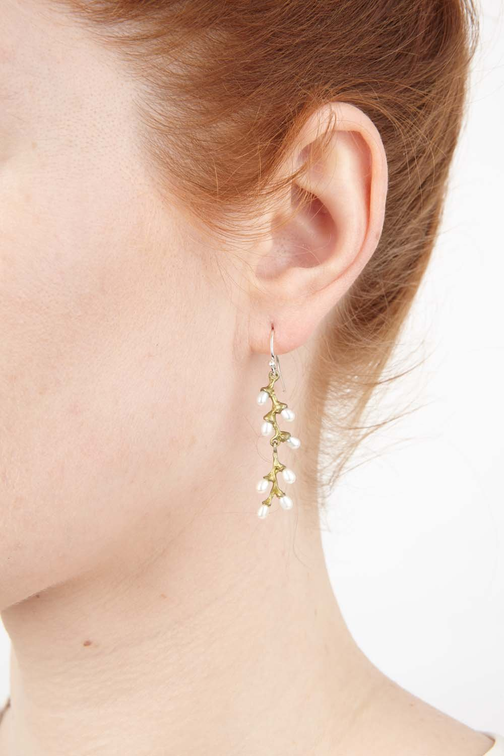 Rice Earrings - Pearl Wire