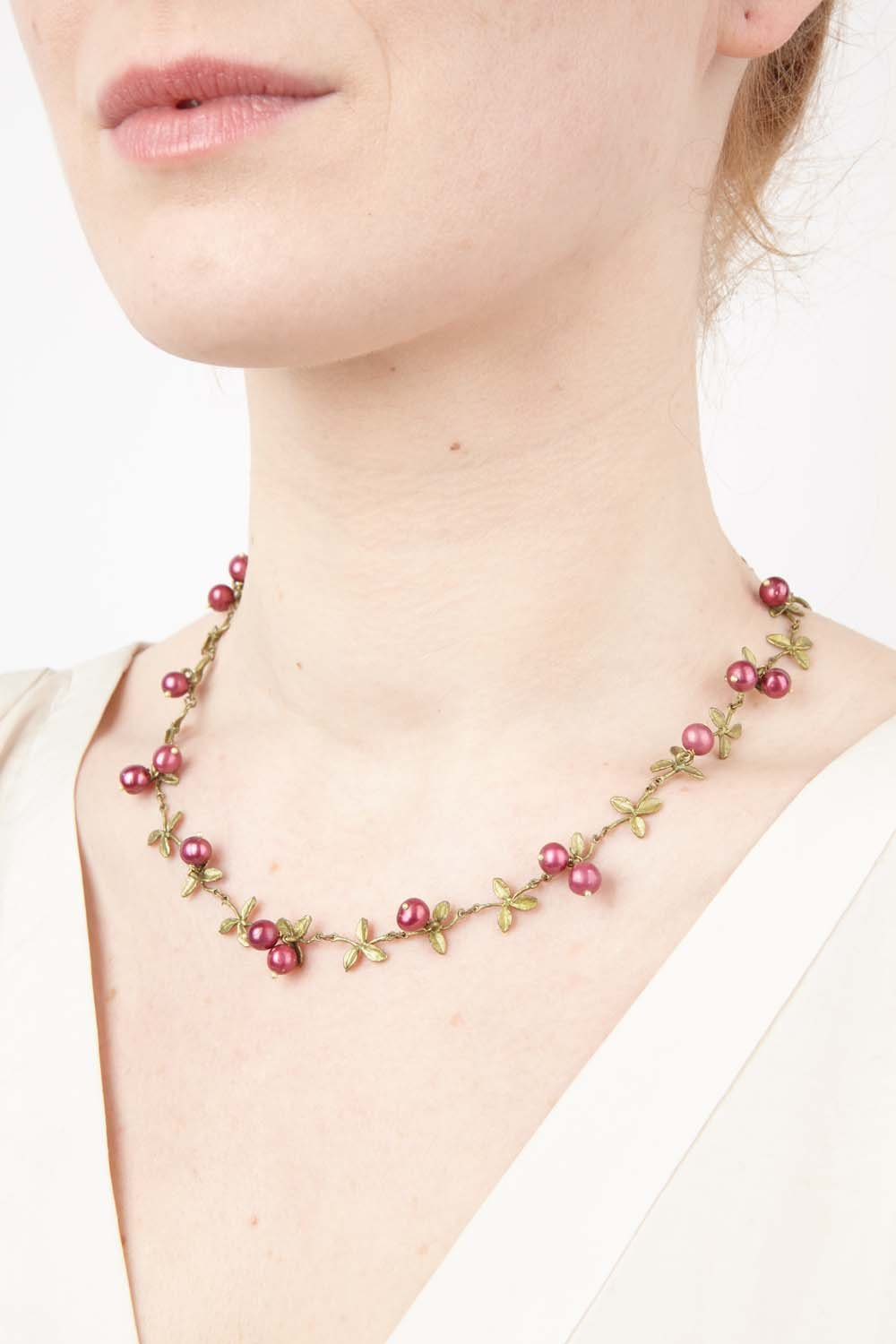 Cranberry Necklace - Delicate