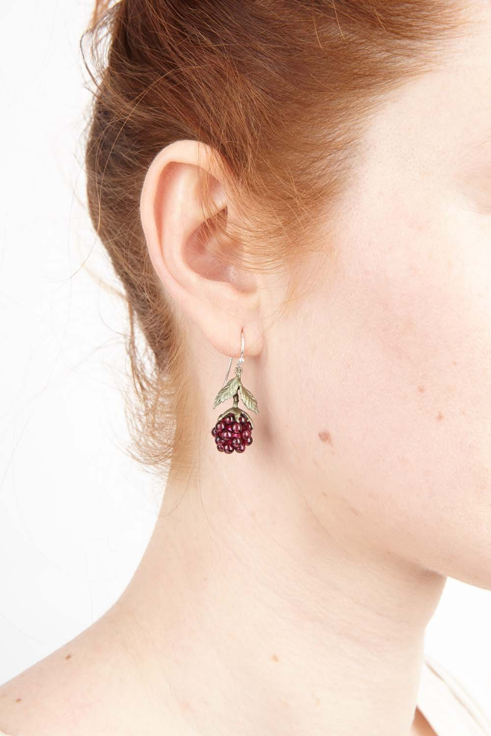 Raspberry Earrings - Wire Drop
