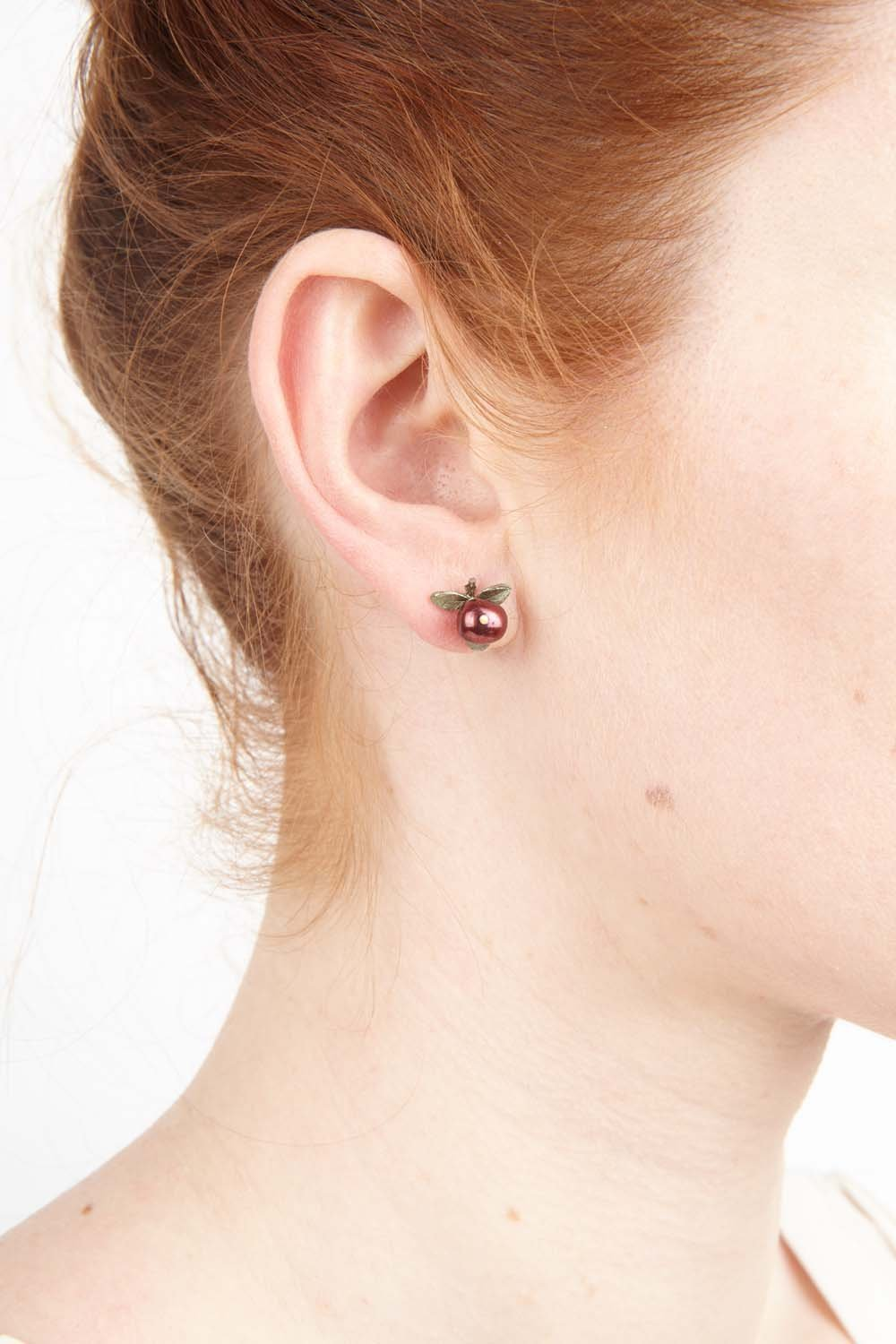 Cranberry Earrings - Post