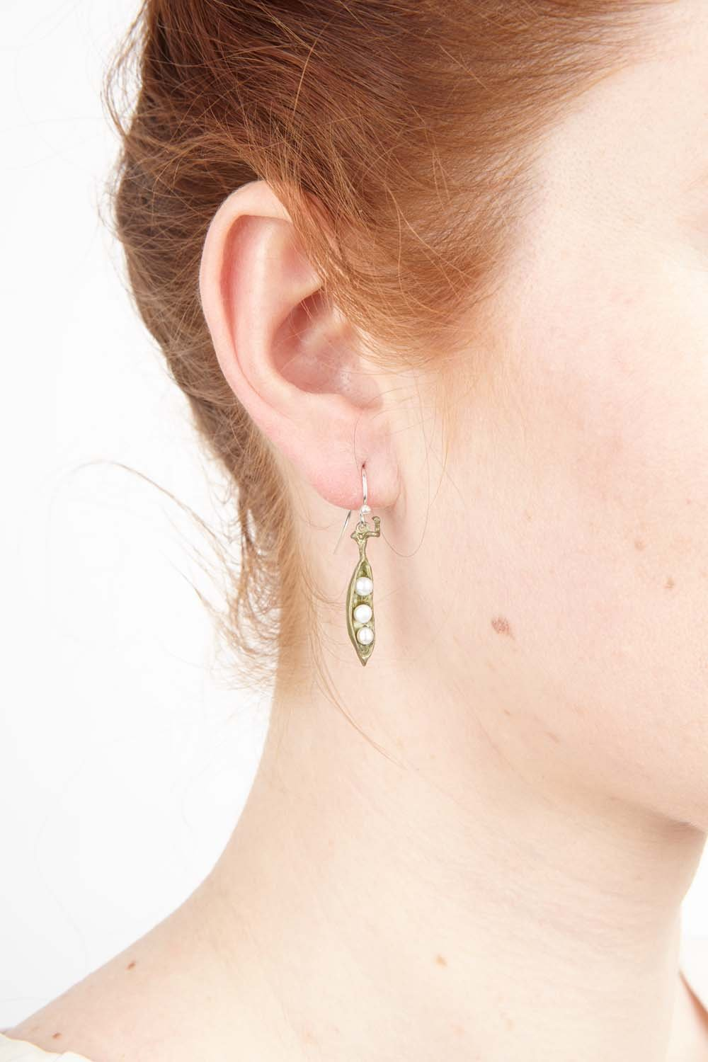 Pea Pod Earrings - Petite Drop