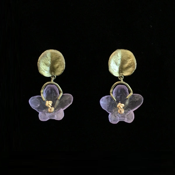 African Violet Earring - Dangle Post