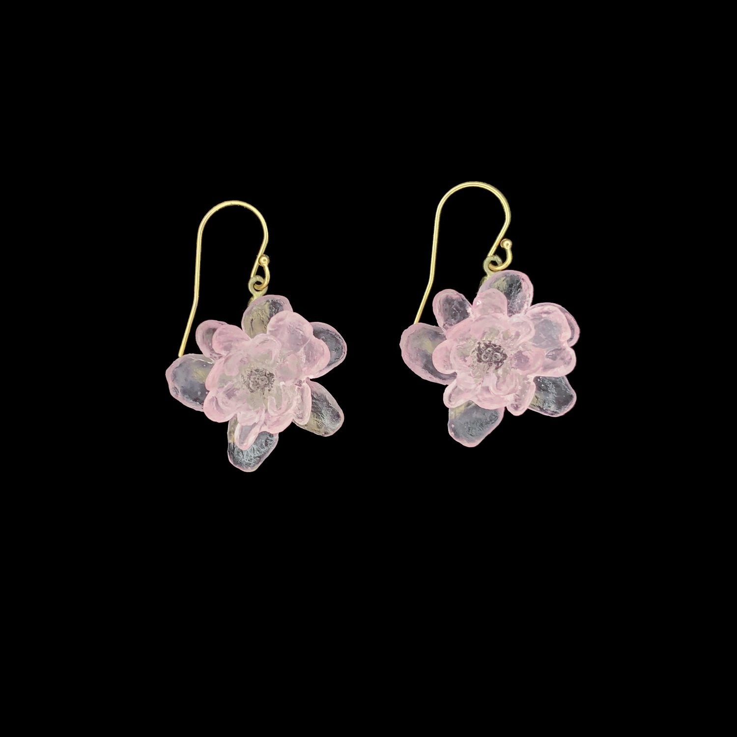 Blushing Rose Earrings - Wire