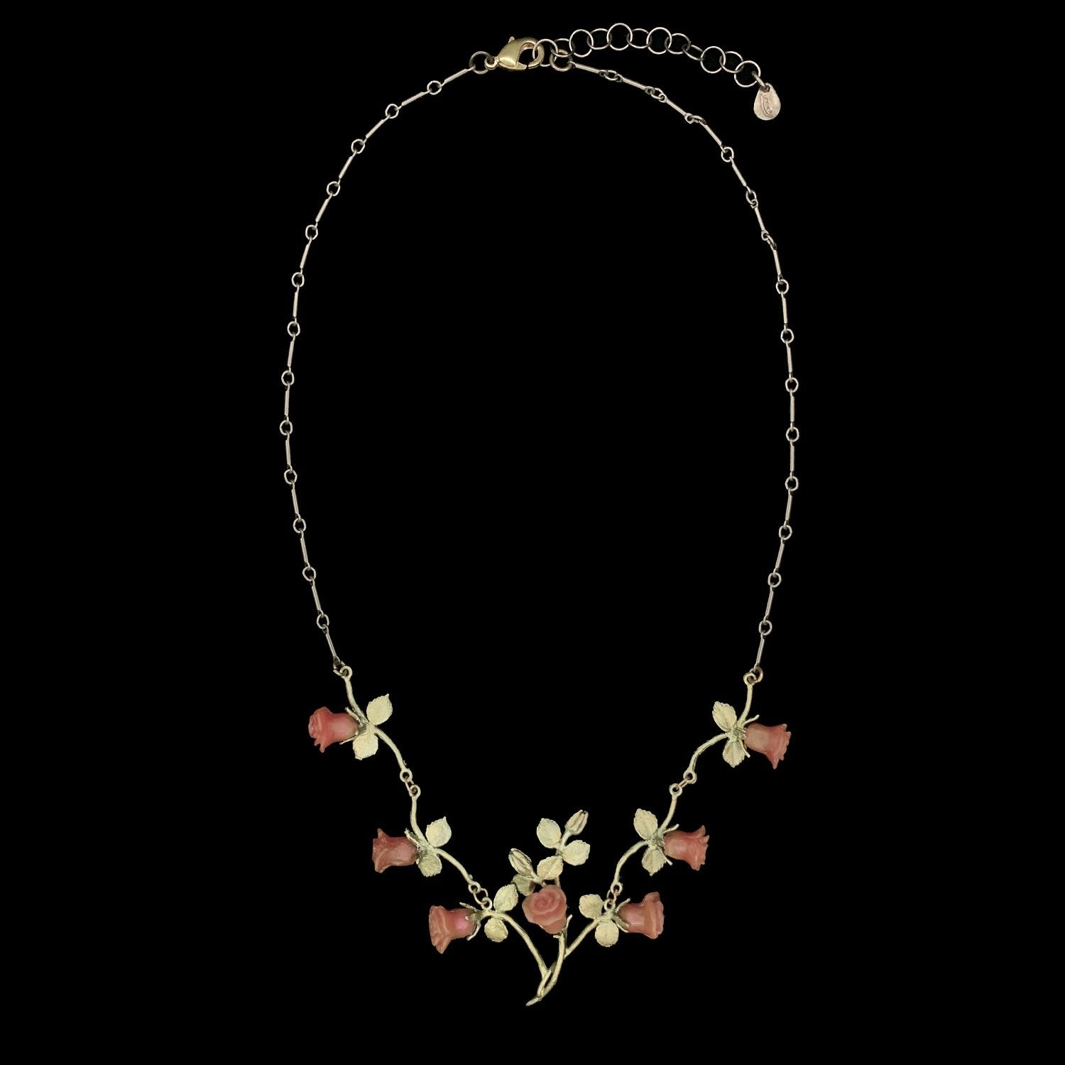 Red Rose Necklace - Vines