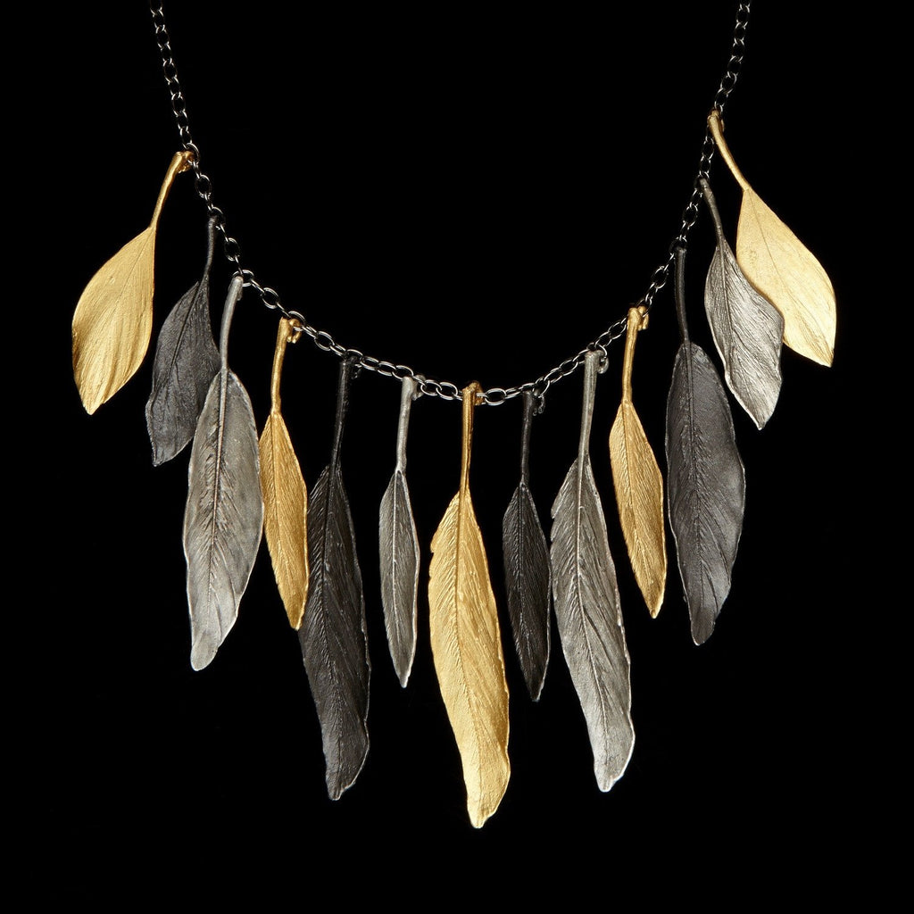 Feather Necklace - Tricolor