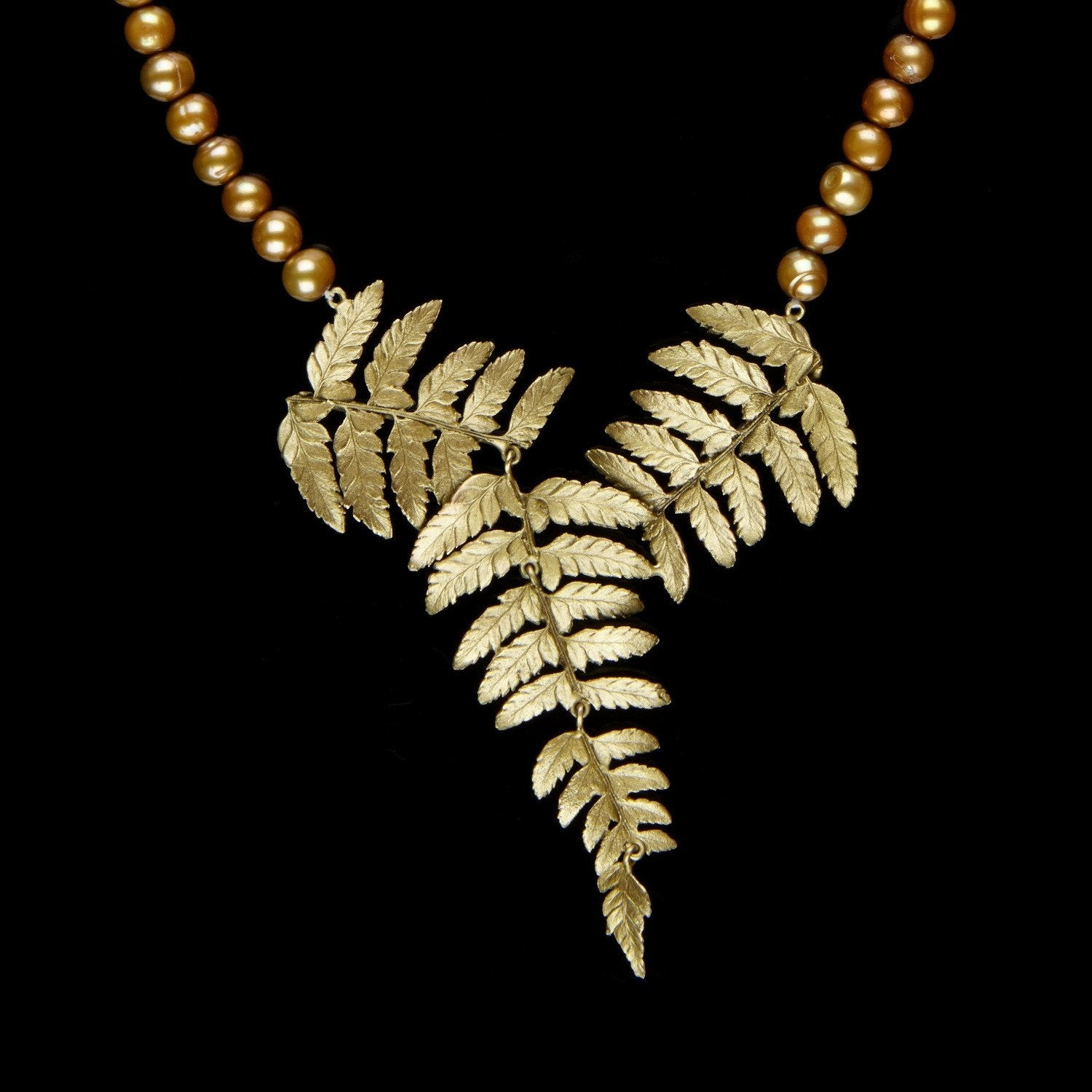 Fern Necklace - Pearl