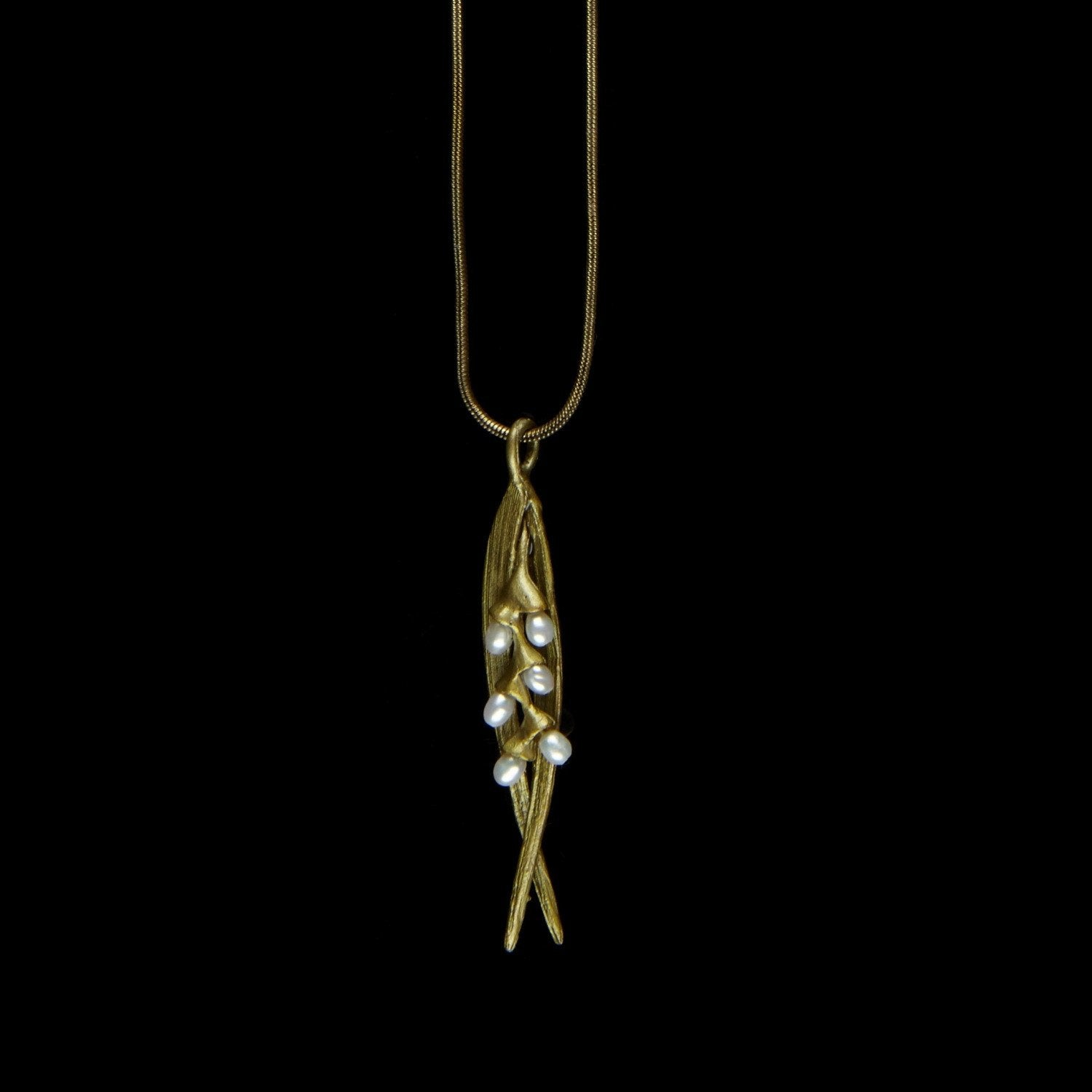 Rice Pendant - Snake Chain