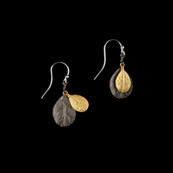 Bahamian Bay Earring - Wire Gold/Gunmetal