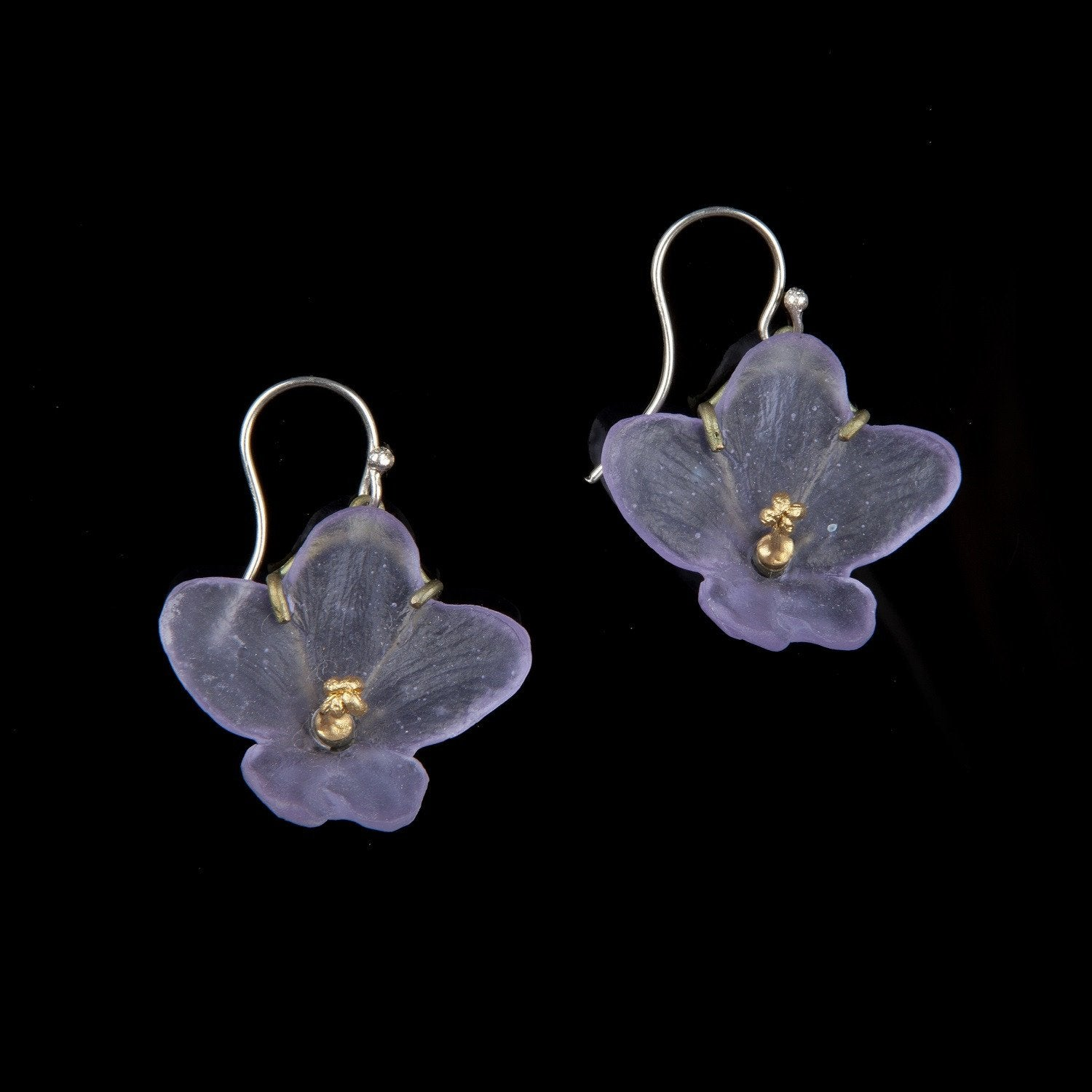 African Violet Earring - Wire