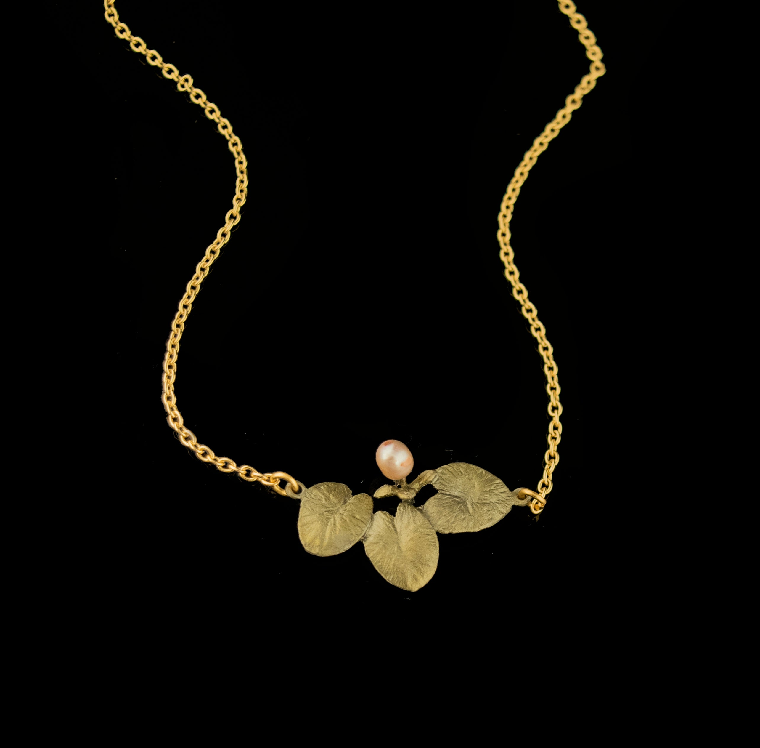 Water Lilies Dainty Pendant