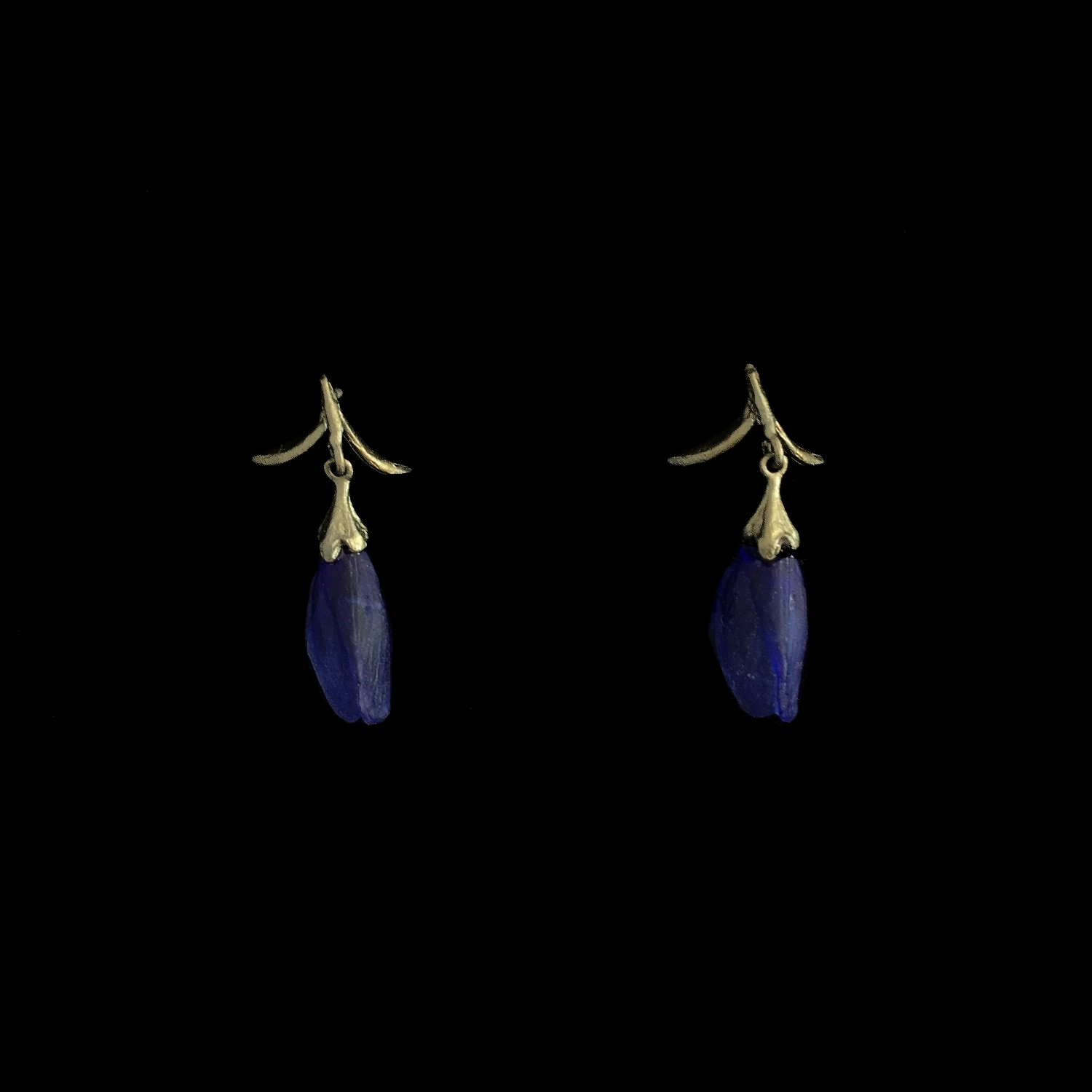 False Indigo Earring - Large Glass Bud Post