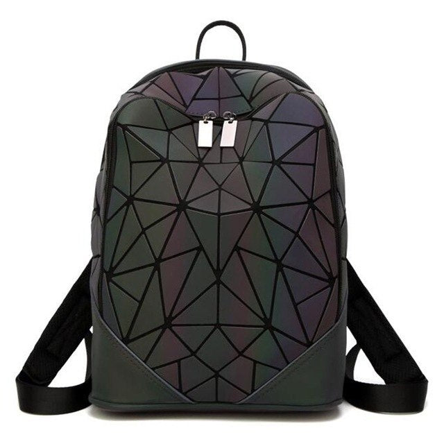 9c606e62d3 Fashion Women backpack PVC geometric luminous backpack 2019 new Travel Bags  for School Back Pack holographic