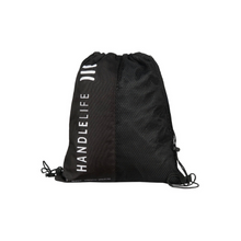 Load image into Gallery viewer, HandleLife Drawstring Bag - Logo/Stripe Typography