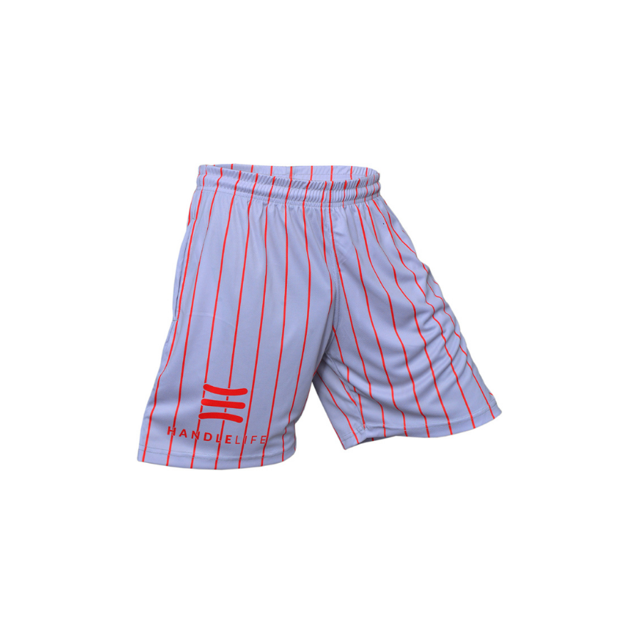 Handlelife Shorts - Grey - Red Stripe