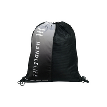 Load image into Gallery viewer, HandleLife Drawstring Bag - Black/White Repeat
