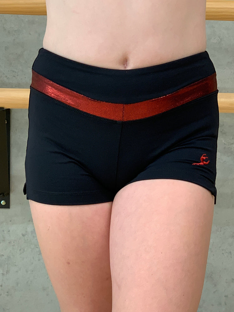 Energetics black and red shorts