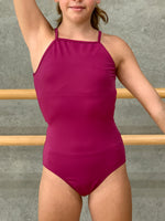 Balera purple lace back leotard