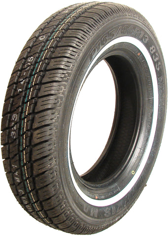 165-80-13 Radial whitewall tyre - Nielsen Auto