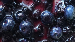 Homemade bilberry jam made with real wild fruits