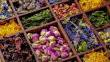 Loose Leaf Herbs for Herbal Tea (rose, lavender, chamomile, mint)