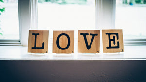 Love written with wood letters