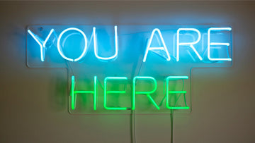 You are here neon lights