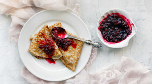 Berry Fruit Jam Spread on Crepes
