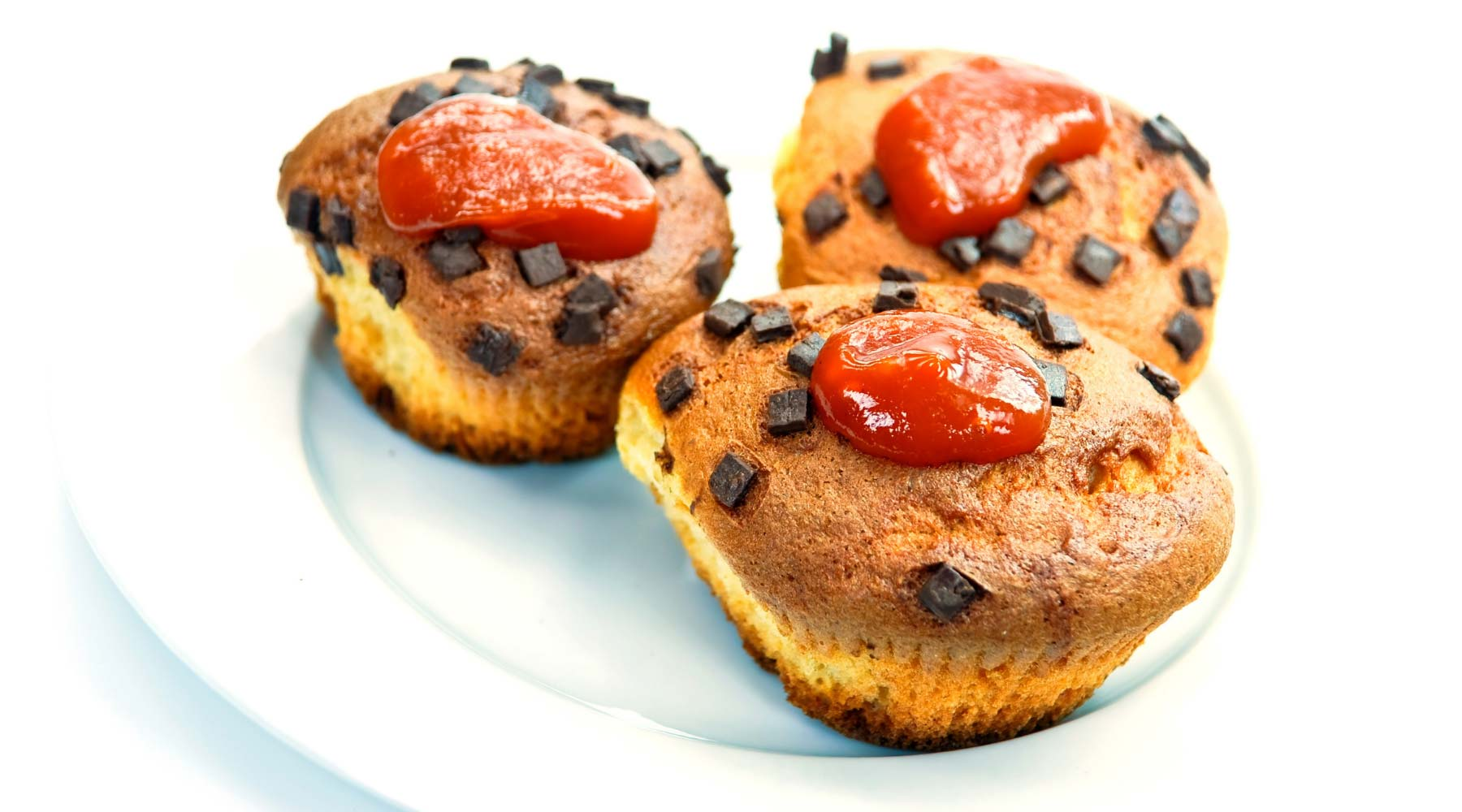 Healthy rosehip jam on muffins