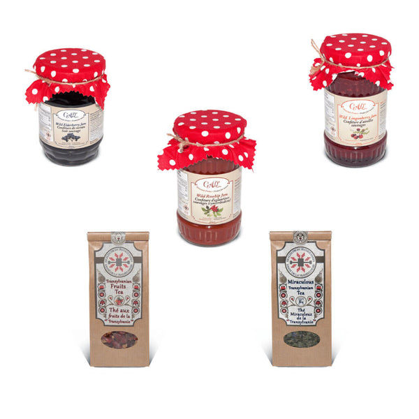 Summer Gift Set - Organic Herbal Teas and Fruit Jams