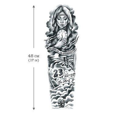 Temporary Tattoo Sleeve Spiritual (full arm)