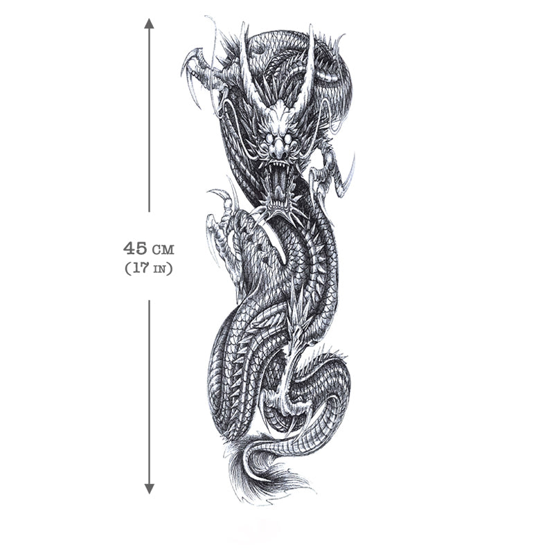 Temporary Tattoo Sleeve Dragon