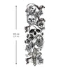 Skull Cross & Flower temporary tattoo sleeve Inkotattoo