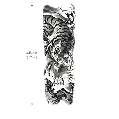 Tiger sleeve Temporary Tattoo
